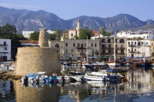 Kyrenia Harbour in the early morning. The Turkish Republic of Northern Cyprus.