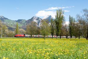 Švýcarsko vlakem