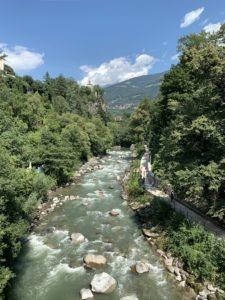 řeka Passirio, Merano Itálie